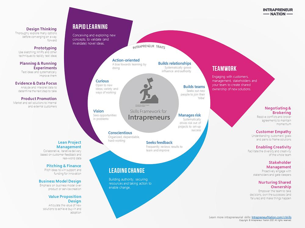 Intrapreneur Skills Framework Infographic